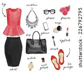 fashion illustration | Shutterstock . vector #226792795