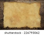 pirates' old parchment treasure ... | Shutterstock . vector #226793062