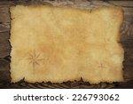 pirates' old parchment treasure ... | Shutterstock . vector #226793062