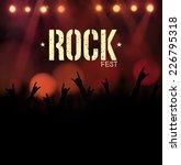 rock festival  poster  eps 10 | Shutterstock .eps vector #226795318