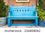 Antique Wooden Bench Outside O...