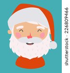 Little Santa. Vector avatar. EPS 10 file, easy to editable - stock vector