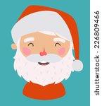 Little Santa. Vector avatar. EPS 10 file, easy to editable - stock vector