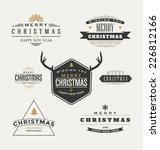 vintage christmas insignia set  ... | Shutterstock .eps vector #226812166