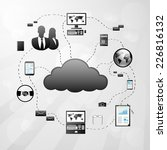 cloud internet connection... | Shutterstock .eps vector #226816132