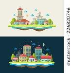 illustration of vector flat...   Shutterstock .eps vector #226820746