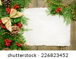 christmas decoration with paper ... | Shutterstock . vector #226823452