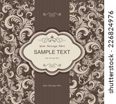 vintage invitation card with... | Shutterstock .eps vector #226824976