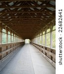 covered bridge taken from one... | Shutterstock . vector #22682641