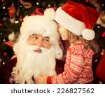 Santa Claus And Child At Home....