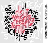 complete set alphabet letters ... | Shutterstock .eps vector #226841086