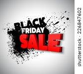 black friday. vector... | Shutterstock .eps vector #226847602