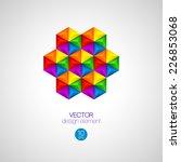 3d triangular background.... | Shutterstock .eps vector #226853068