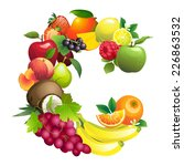 illustration letter c composed ...   Shutterstock . vector #226863532