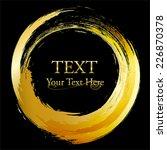 gold concept. circle frame... | Shutterstock .eps vector #226870378