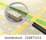 City Building In Tne Magnifier...