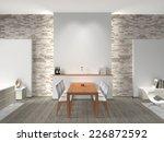 interior of a modern dining... | Shutterstock . vector #226872592