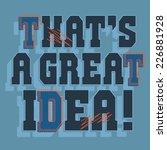 message typography  vectors  t... | Shutterstock .eps vector #226881928