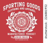 Vintage Sporting Typography  T...