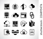 network icons  server and data... | Shutterstock .eps vector #226895476