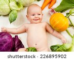 Babe With Vegetables
