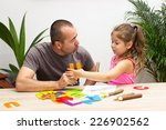 a little girl practicing the... | Shutterstock . vector #226902562