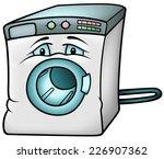 washing machine   colored... | Shutterstock .eps vector #226907362