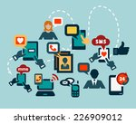 flat communication icons set... | Shutterstock .eps vector #226909012