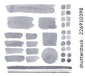 set of watercolor elements ... | Shutterstock .eps vector #226910398