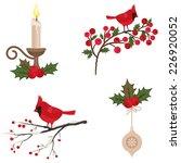 Beautiful Christmas Icons Set...