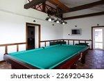 brand new and modern billiard... | Shutterstock . vector #226920436