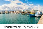 fishing boats docked at newly... | Shutterstock . vector #226921012