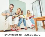 group of students studying at... | Shutterstock . vector #226921672