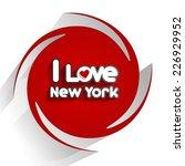 i love new york design on red... | Shutterstock .eps vector #226929952