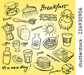 breakfast food and icons doodle ... | Shutterstock .eps vector #226930906
