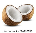 coconut with half isolated on... | Shutterstock . vector #226936768