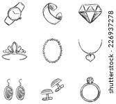 vector set of  sketch jewelry...   Shutterstock .eps vector #226937278