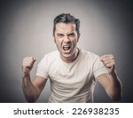 portrait of young angry man... | Shutterstock . vector #226938235