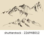 contours of the mountains... | Shutterstock .eps vector #226948012