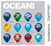 oceani countries part two | Shutterstock .eps vector #226957492