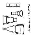 Vector film strip elements - stock vector