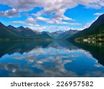 norwegian fjords near andalsnes.... | Shutterstock . vector #226957582