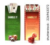 casino gamble it vertical...   Shutterstock .eps vector #226963372