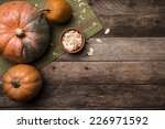 Rustic Style Pumpkins With...