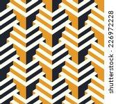 isometric vector seamless... | Shutterstock .eps vector #226972228