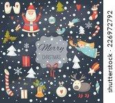 christmas cartoon illustration...   Shutterstock .eps vector #226972792