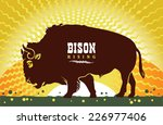 silhouette of the buffalo on... | Shutterstock .eps vector #226977406