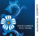 abstract floral background with ... | Shutterstock .eps vector #22698079