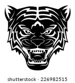 tiger head tattoo | Shutterstock .eps vector #226982515