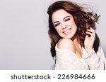 expressive portrait of a... | Shutterstock . vector #226984666